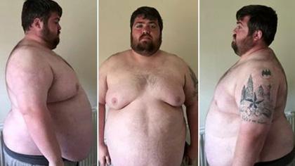 英国男子因过胖无法玩过山车 怒减肥一半体重