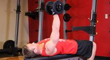 哑铃胸部肌肉强化训练-初级(3练/周)