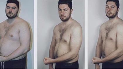 新的一年,祝你跟这个小伙一样:减肥上瘾
