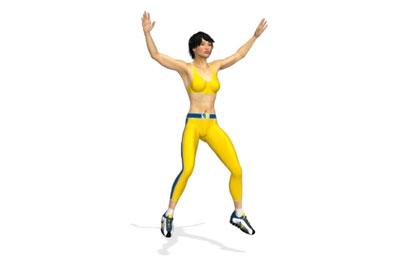 腿部训练动作分解:开合跳