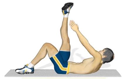 腹肌训练动作分解:练习腹斜肌