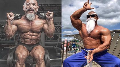 """50多岁老头迷恋""""七龙珠"""",疯狂健身练成真实版龟仙人"""