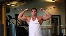 健身房肱二头肌强化训练-新手(2练/周)