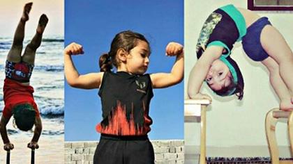 """年仅4岁的""""小姑凉""""一身肌肉,竞对父亲下如此狠手!"""