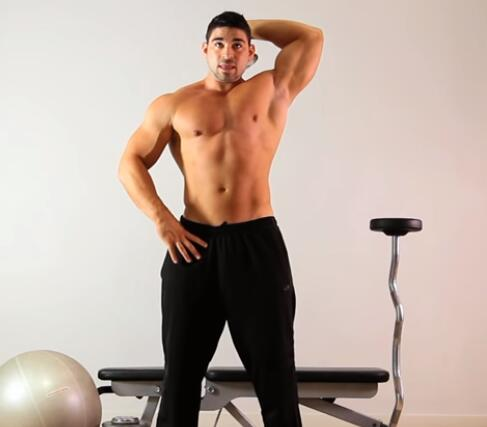 让手臂撑爆袖口 肱三头肌训练方法 - 图片2