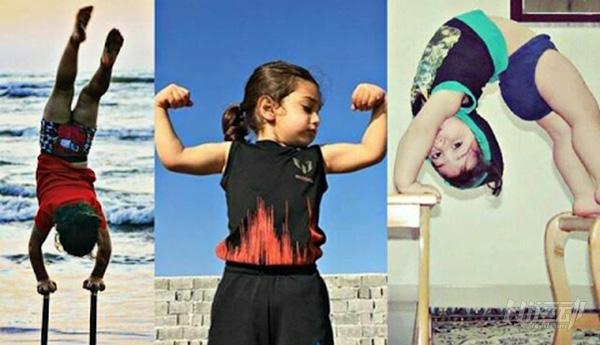 """年僅4歲的""""小姑涼""""一身肌肉,競對父親下如此狠手! - 圖片1"""