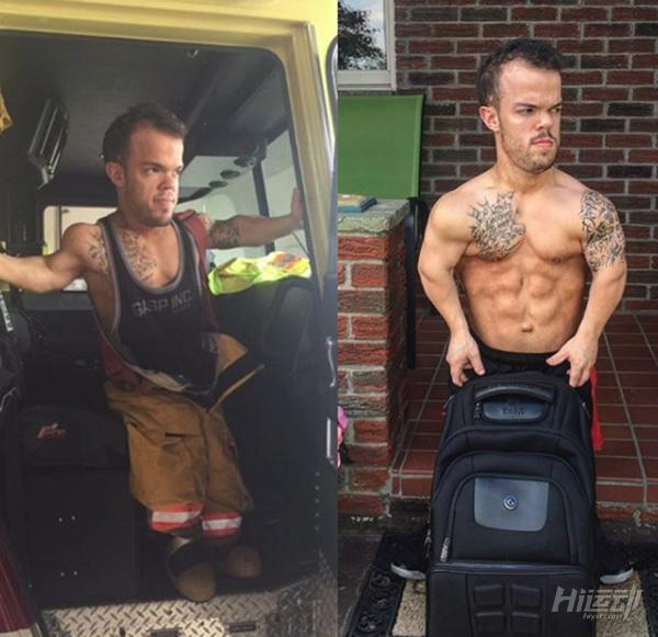 身高1米2却梦想当消防员,付出百倍努力健身成小巨人 - 图片23
