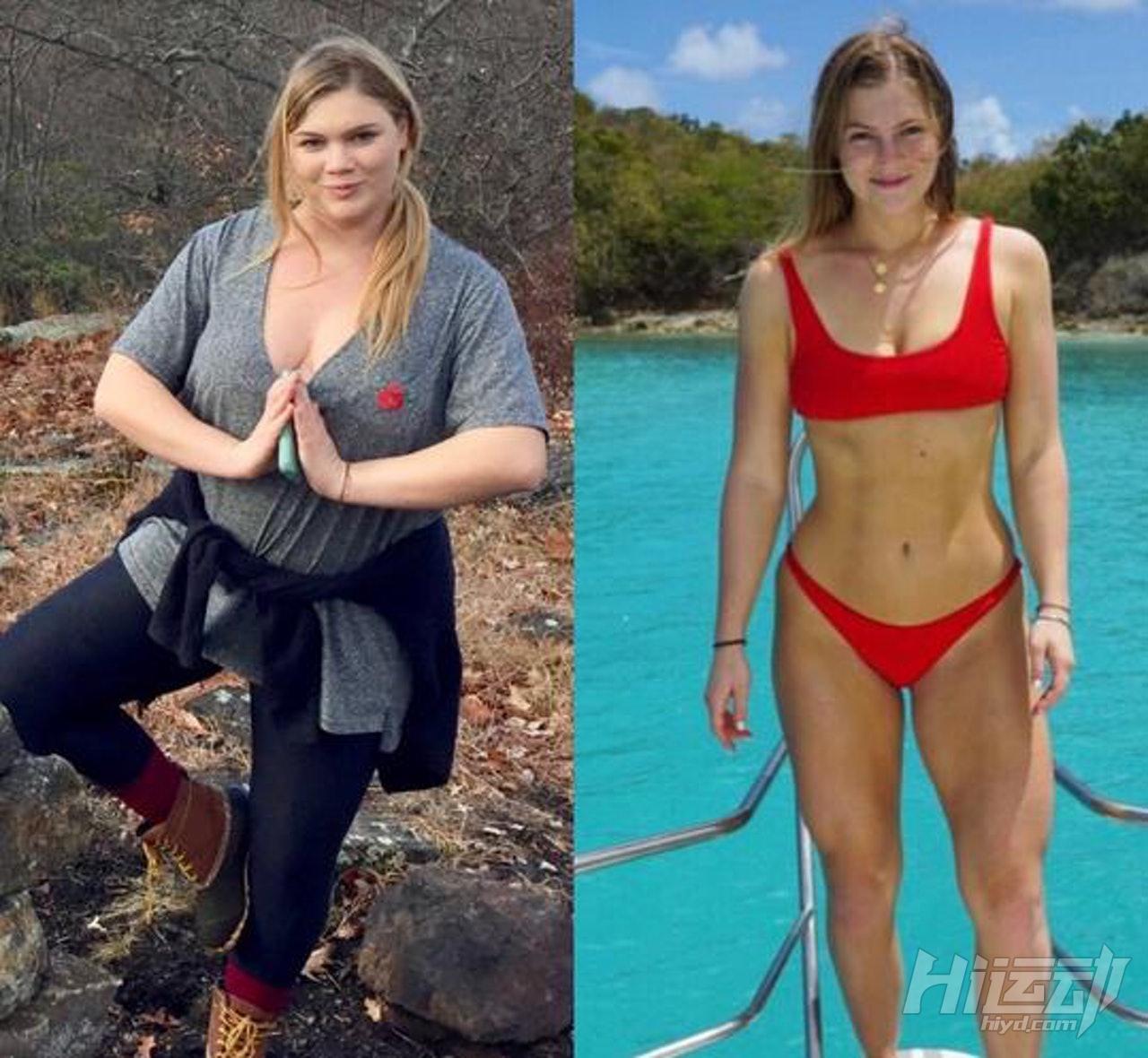 不应被体重定义快乐,美国肥妹靠健身变阳光美女 - 图片4