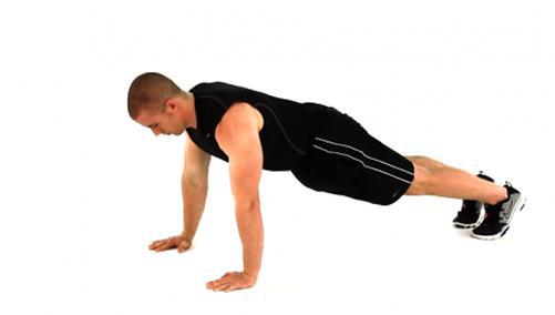 俯卧撑变种 锻炼肩、胸、上肢肌肉 - 图片1