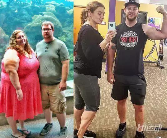 男子陪伴妻子减肥3年,甩掉280斤的胖妞逆袭成美女 - 图片1