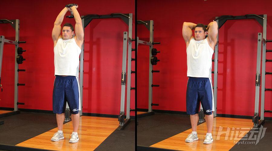 不想去健身房 6个哑铃动作练成肌肉男 - 图片6