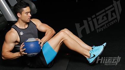 健身药球 全身训练动作图解 - 图片1