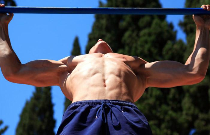 囚徒健身之引体向上 锻炼背部和肱二头 - 图片1
