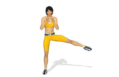 腿部訓練動作分解:下蹲側踢