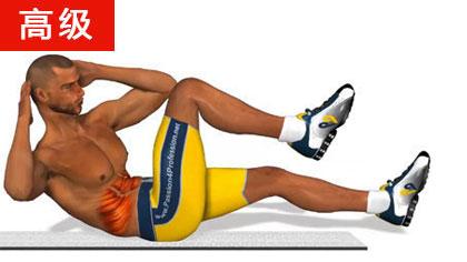 8分钟腹肌锻炼:高级课程