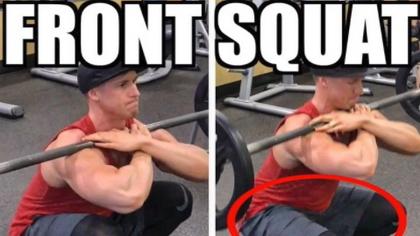 訓練股四頭肌的必備動作杠鈴前蹲完美示范