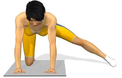 臀部训练动作分解:伸直腿侧摆