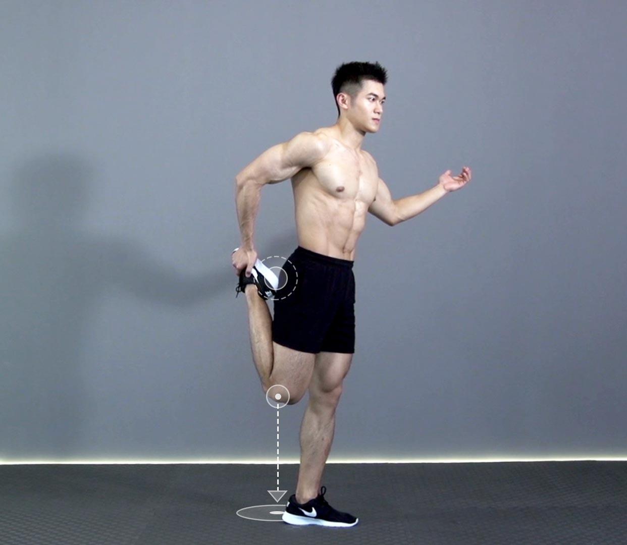 拉伸小腿的动作_大腿前侧拉伸 R正确动作要领_大腿前侧拉伸 R视频GIF图解_Hi运动 ...
