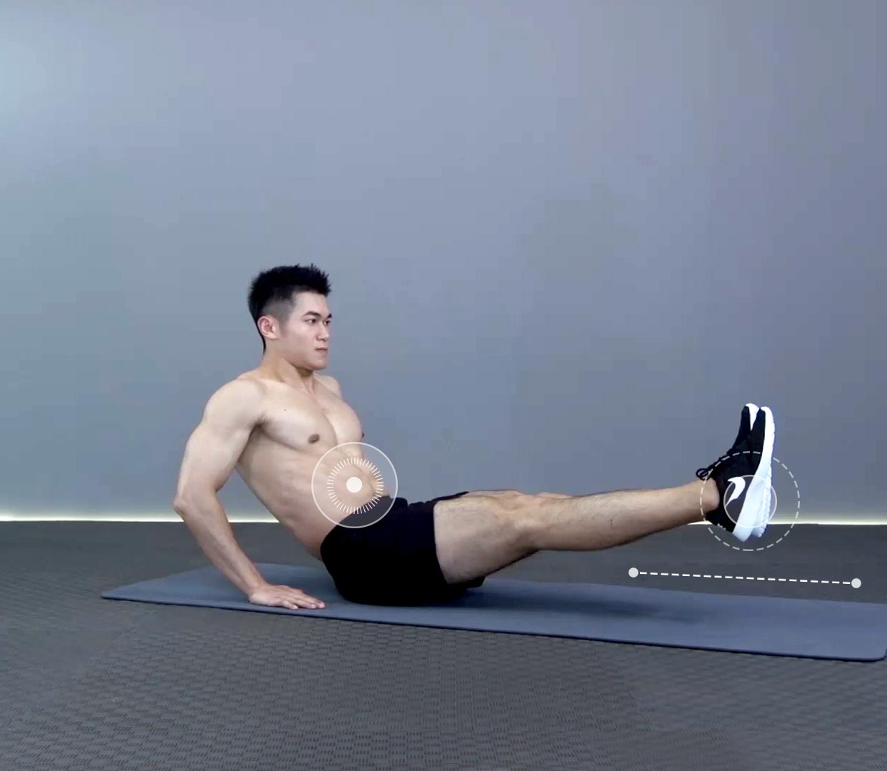 腿部肌肉示意图_坐姿收腿正确动作要领_坐姿收腿视频GIF图解_Hi运动健身网