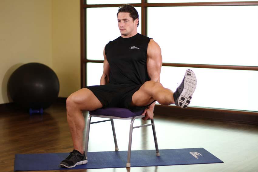 椅上腿部拉伸