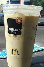 麦当劳大杯冰咖啡(香草味), 又叫Iced Coffee