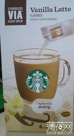 星巴克VIA 香草拿铁风味咖啡饮料, 又叫咖啡饮料