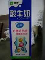 蒙牛 酸牛奶(原味) 950ml(盒装), 又叫全脂调味酸牛乳