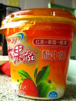 伊利大果粒酸牛奶(红茶+草莓+椰果)