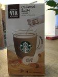 星巴克 via焦糖拿铁风味咖啡饮料