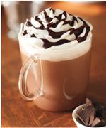 星巴克热巧克力(脱脂奶有奶油大杯)