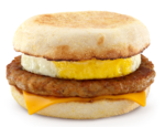 麦当劳香肠鸡蛋松饼, 又叫Mcdonald's Sausage McMuffin with egg