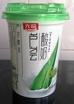 光明 芦荟酸奶 450g(杯装), 又叫芦荟酸奶(杯装)