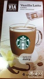 星巴克VIA香草拿铁风味咖啡饮料(固体饮料)
