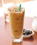 星巴克冰拿铁(12盎司 脱脂奶), 又叫Iced Caffè Latte(12oz Nonfat milk)