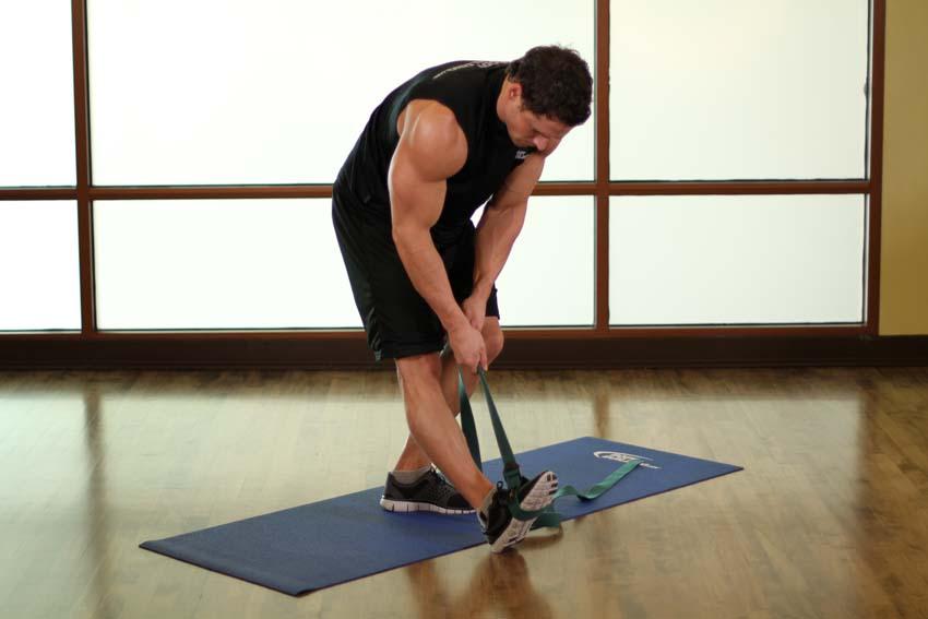站立腘绳肌和小腿拉伸