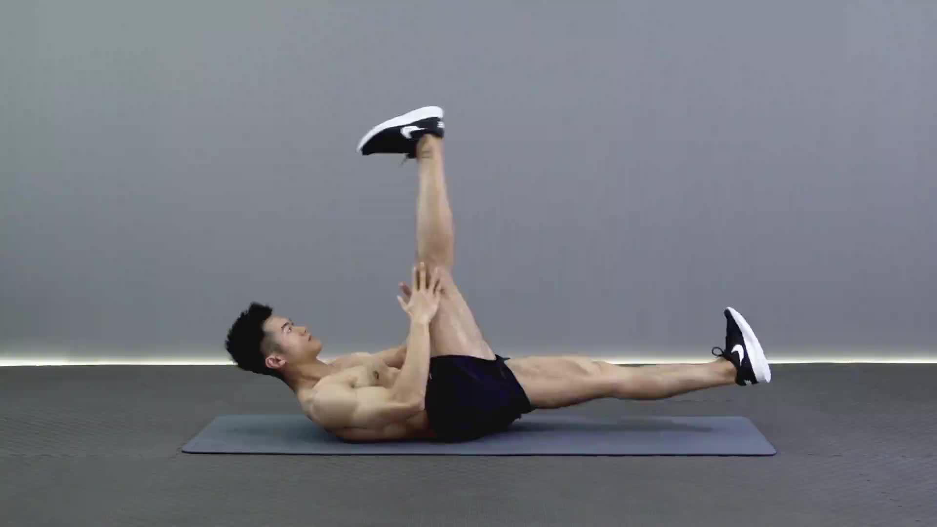 单腿直腿伸展